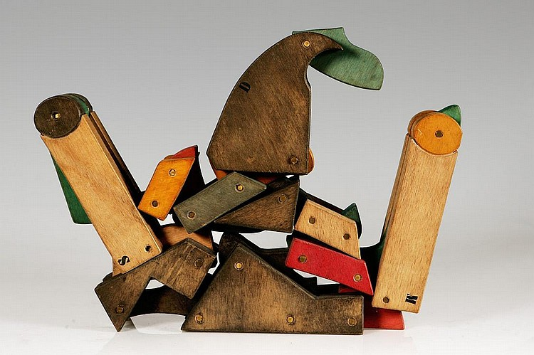 BRUNO CHERSICLA (1937-1997), No title, Okumé wood