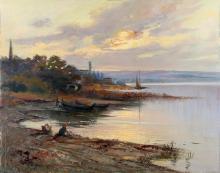 VERNI ARTURO (1891 - 1960) Rivoltella beach.