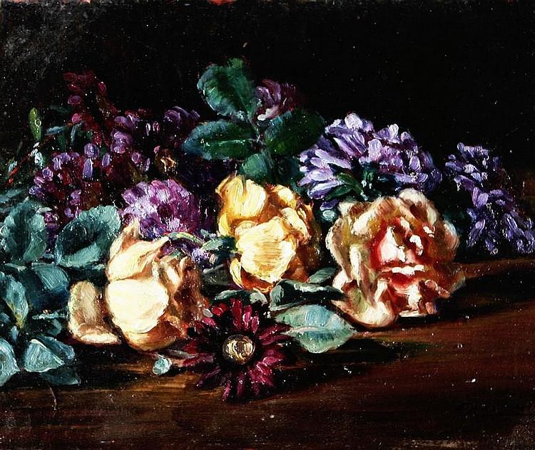 CESARE CALCHI NOVATI (1858-1939), Flowers, Oil on