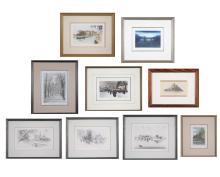 Group of European City & Landmark Prints (20th C)
