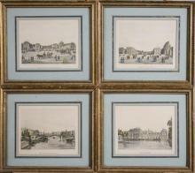 Group of Paris Landmark Prints (19th Century)