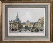 Print of the Palais de Justice (19th Century)