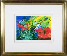 Abstract Garden Print (20th Century)