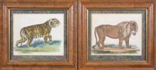 Pair of Vintage Prints of Big Cats