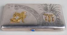 Russian Silver Cigar Case   *