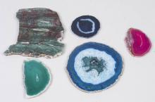 Five Mineral Slabs