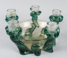 Mid Century Glass Centerpiece