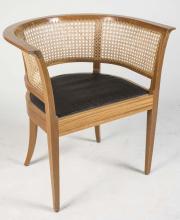 Danish Caned Back Tub Chair