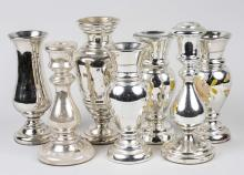 Group of Mercury Glass Decorations