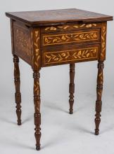 Marquetry Fold Top Table
