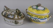 Ceramic Soup Tureen & Pate Dish