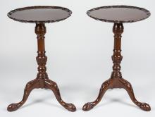 Pair of Agostino Pie Crust Tables