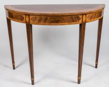 Federal Style Demilune Table