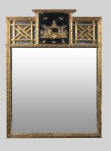 Chinese Chippendale Style Gilt Wood Mirror