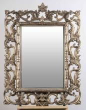 Rococo Style Silver Gilt Mirror