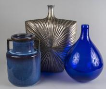 Group of Three Vases