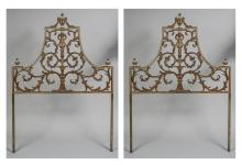 Pair of Neoclassical Style Headboards