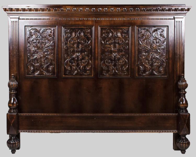 Carved bed frame