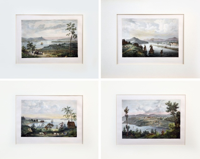 Four Hand Colored Lithographs