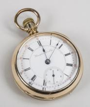 Hampton Watch Co. Gold Filled Pocket Watch