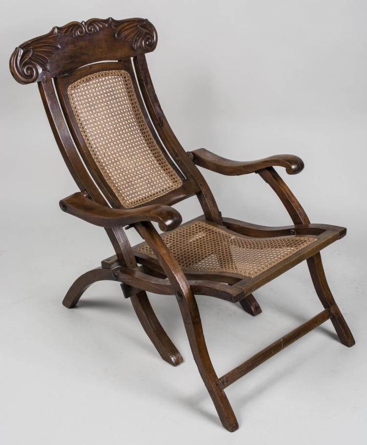 Caned seat chaise longue for Chaise longue seat