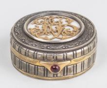 Russian Silver & Gold Trinket/Snuff Box   *