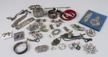 Group of Silver Tone Costume Jewelry
