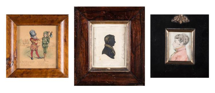 Three 19th Century Diminutive English Watercolors