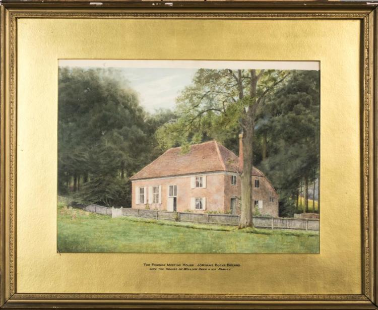 Watercolor of the Friends Meeting House