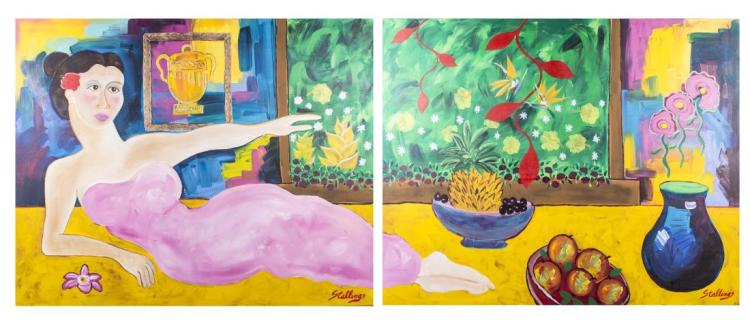 Diptych by Jim Stallings (American, 20th Century)
