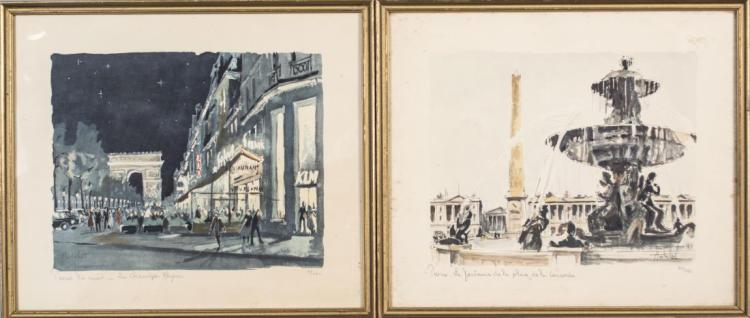 Pair of Franz Herbelot Lithographs