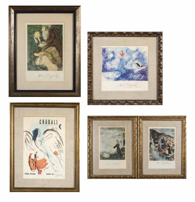 Group of Five Chagall Prints
