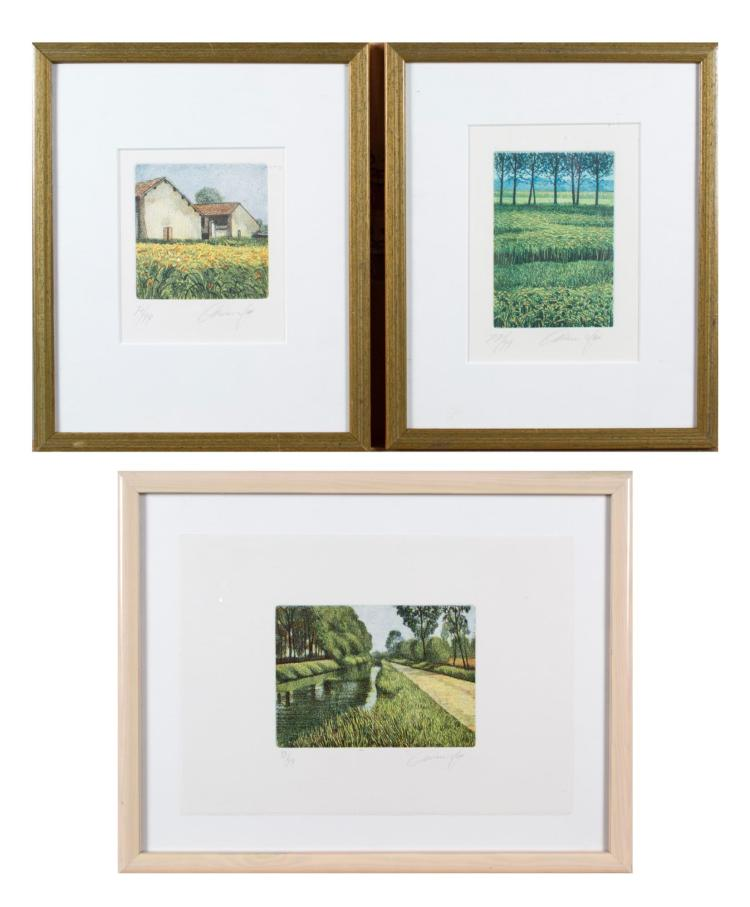Three Prints of the Countryside by Arlene Yaw