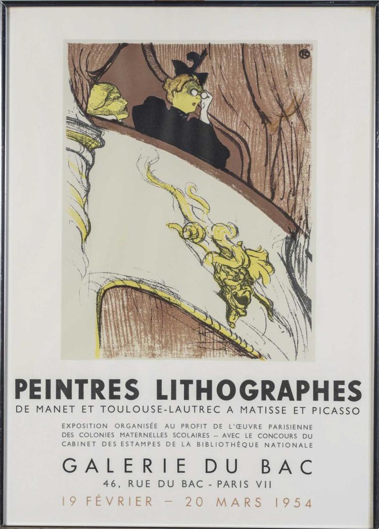 Galerie Du Bac Toulouse Lautrec 1954 Poster
