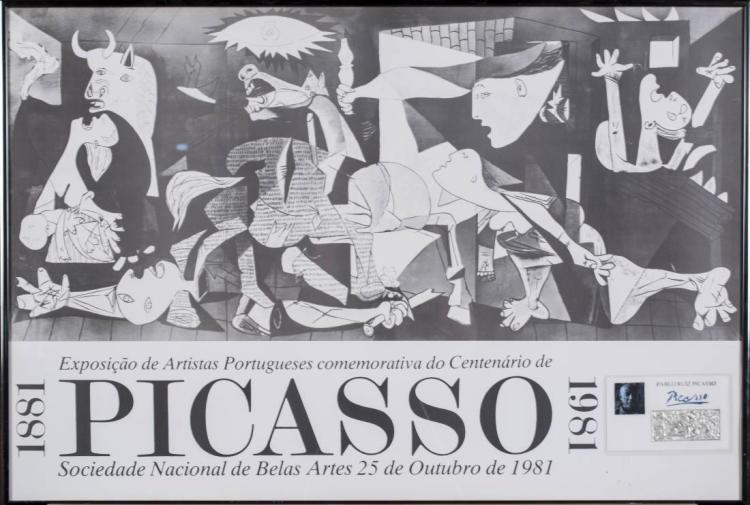 Pablo Picasso 1981 Exhibition Poster