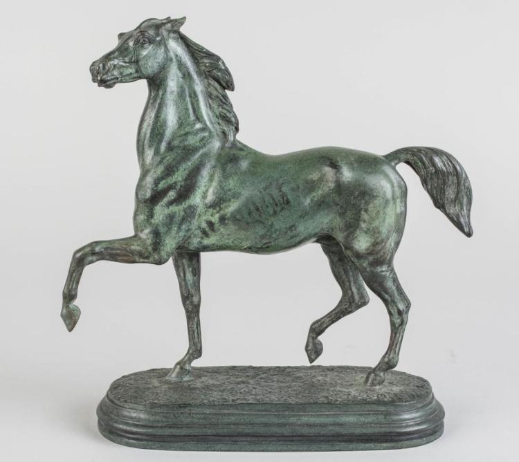 Bronze Horse, Signed A. Barye