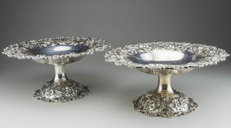 Pair of Kirk & Son Sterling Silver Compotes *