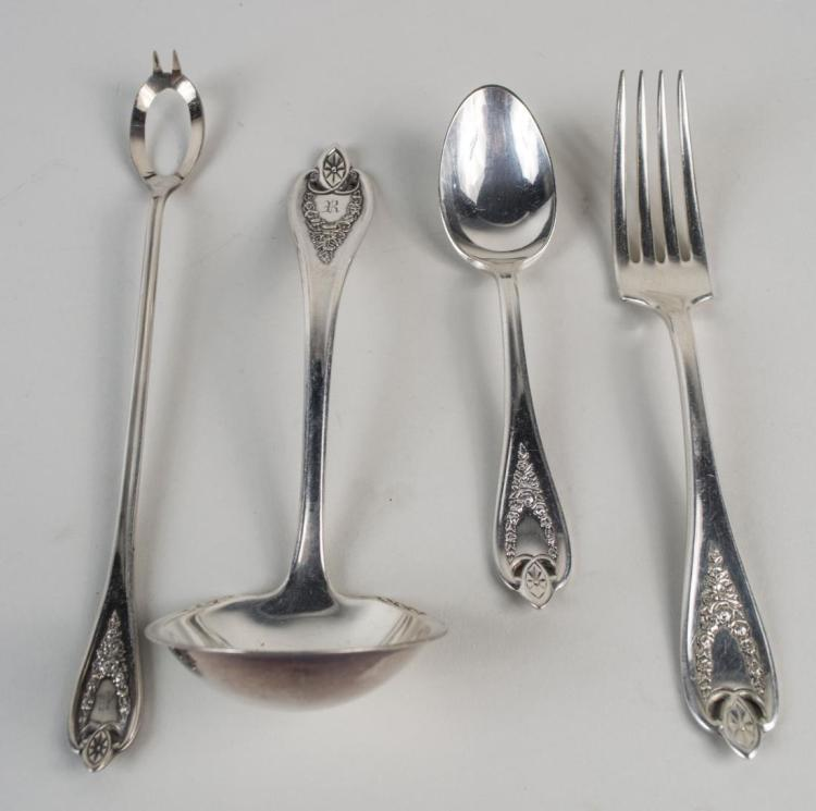 Rogers Silver Plated Flatware Service