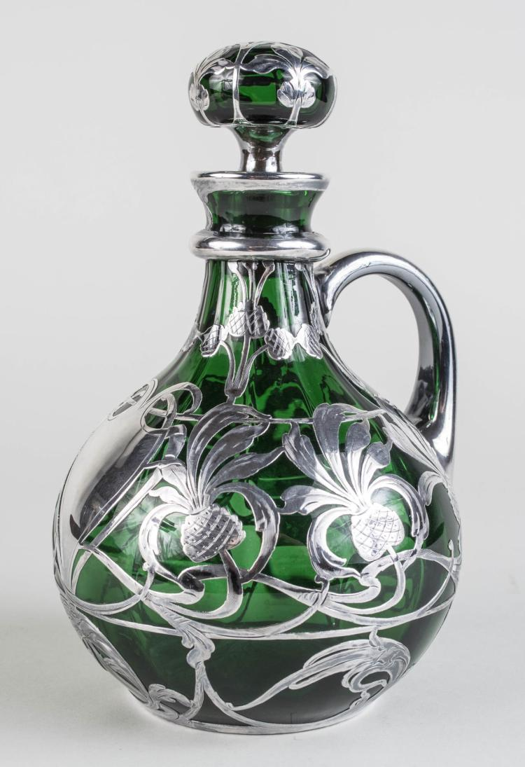 American Sterling Silver Overlay Ewer