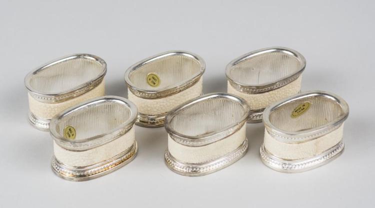 Group of Metal Napkin Rings
