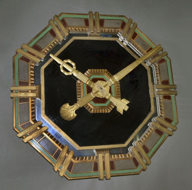 Art Deco Bronze Wall Clock