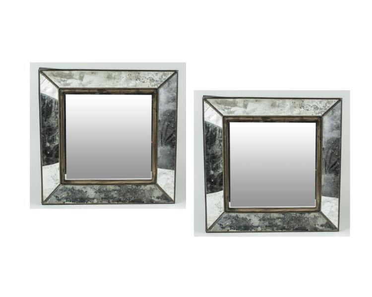 Pair of Mirror Framed Mirrors