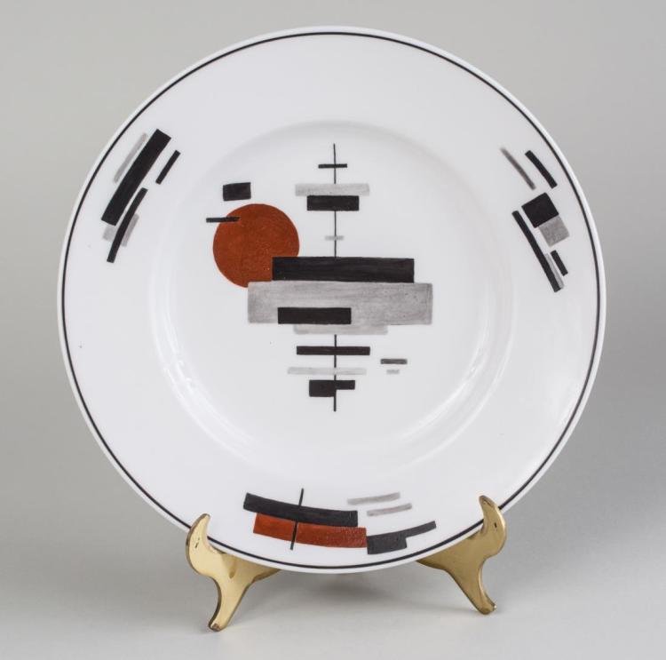 Nikolai Suetin Russian Suprematist Porcelain Plate