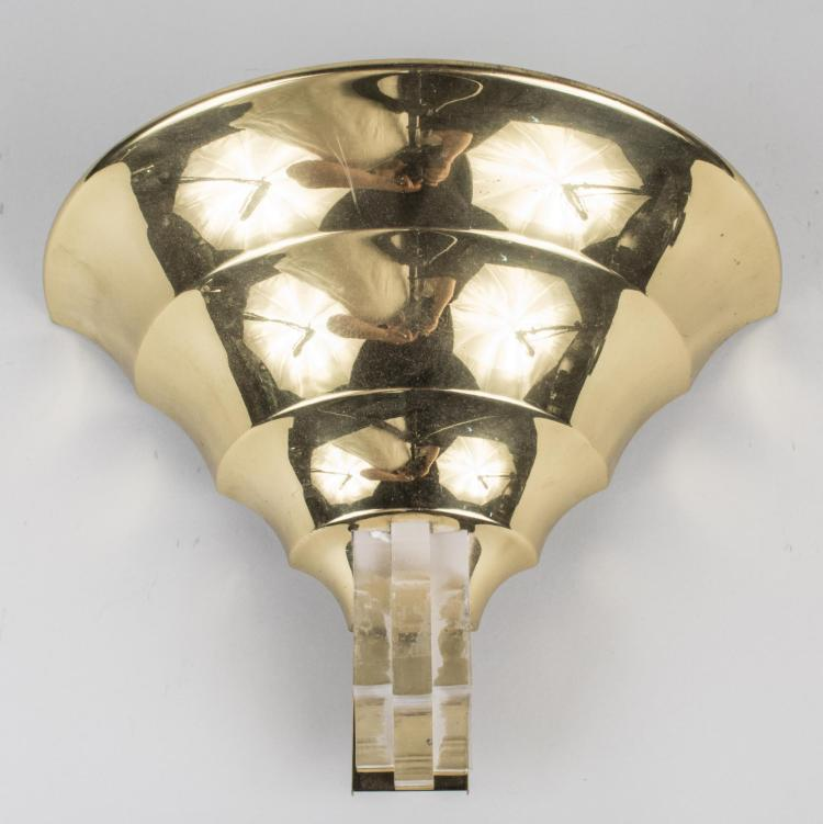 Brass and Acrylic Sconce