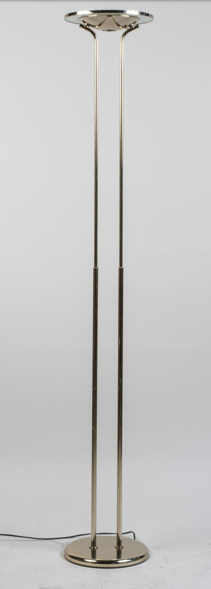 Contemporary Brass Torchere