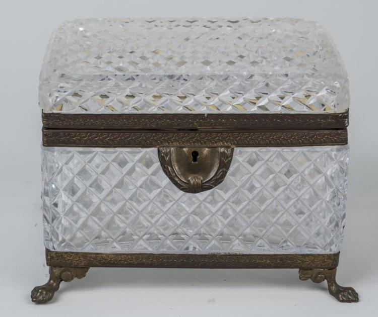 French Cut Glass Dresser Box