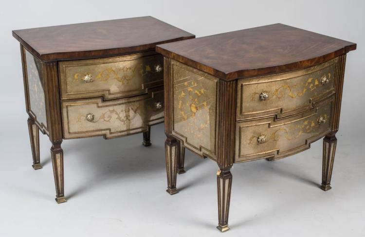 Pair of Theodore Alexander Night Stands