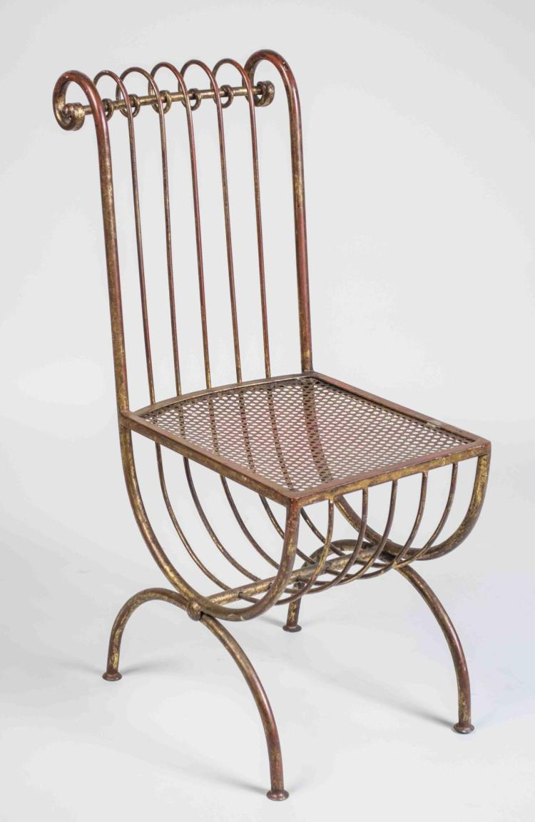 Scrolled Iron Vanity Chair