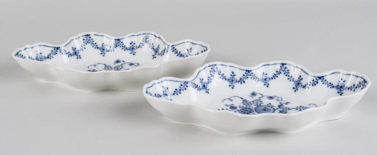 Pair of Berlin Porcelain Relish Dishes