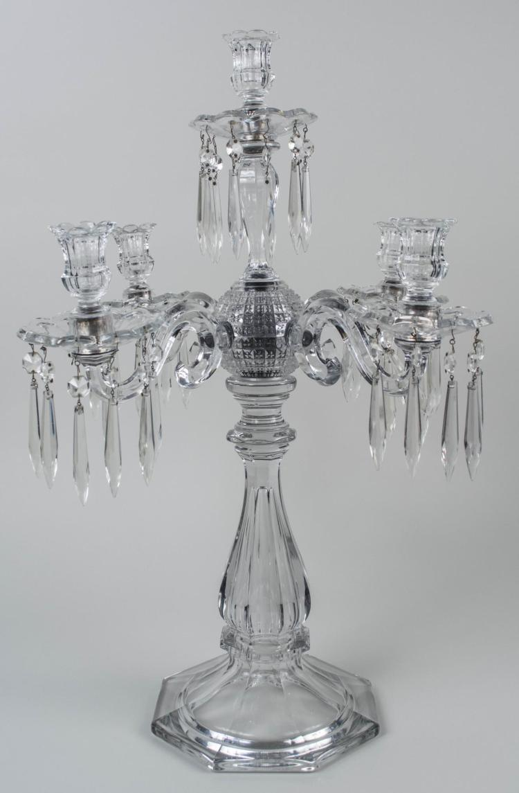 Five Light Crystal Candelabra